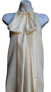 Ralph Lauren Cashmere Silk Creme Halter Evening Daytime Holiday Top ivory