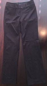 Ann Taylor LOFT Dress Petite Petite Work Marisa Leg Straight Pants Purple-Gray