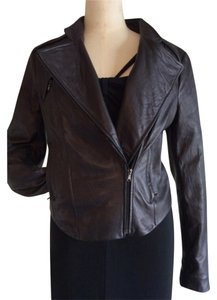 French Connection Motorcycle Leather Jacket