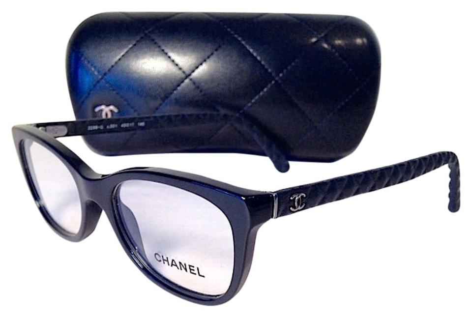 3bf6a8b6d95 Chanel New! Chanel Black Quited Logo Eyeglasses With Case Image 0 ...