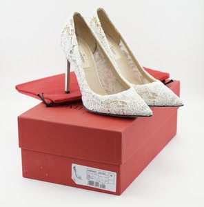 Valentino Valentino Ivory Off-white Crystal Lace Wedding Pumps 36 6 Wedding Shoes