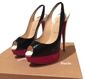 Christian Louboutin Black, Red, White Platforms