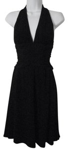 White House | Black Market short dress Black Halter-style Full Skirt on Tradesy