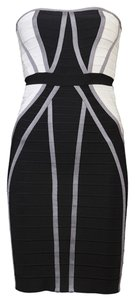 Hervé Leger Strapless Bandage High Fashion Dress