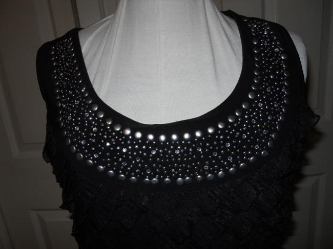 Carole Little Studded Rhinestone Dress