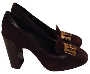 Tory Burch Bowie Coconut Coconut/Chocolate Brown Pumps