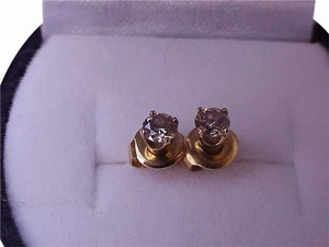 Estate .50ct VS/G Diamond 14k Yellow Gold Earrings Studs