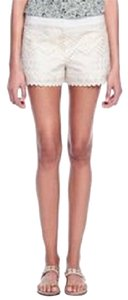 Tory Burch Embroidered Dress Shorts White/New Ivory