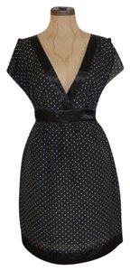 Guess Polka Dot V Neck Deep Dress
