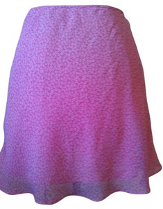 All That Jazz 12 Sheer 80s 1980s Retro Skirt Pink White floral