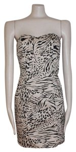 H&M Bustier Strapless Animal Print Sexy Dress