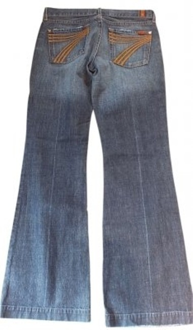 Preload https://item2.tradesy.com/images/7-for-all-mankind-blue-medium-wash-flair-flare-leg-jeans-size-30-6-m-10766-0-0.jpg?width=400&height=650