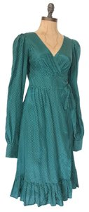 Voom by Joy Han short dress GREEN Wrap Vintage Polka Dot on Tradesy