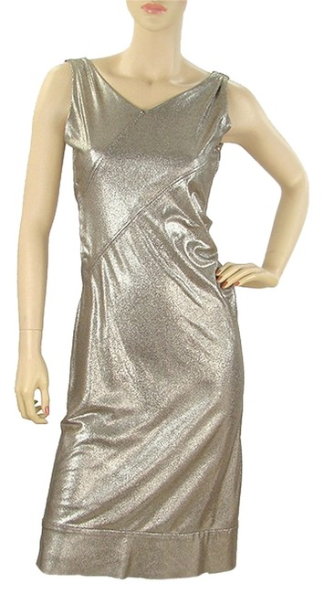 Preload https://item2.tradesy.com/images/grey-metallic-gold-knot-knee-length-cocktail-dress-size-4-s-1076656-0-0.jpg?width=400&height=650
