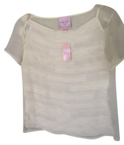 Romeo & Juliet Couture Sheer Top Cream