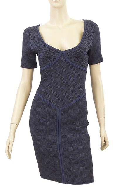 Preload https://item2.tradesy.com/images/zac-posen-blue-black-and-jacquard-knit-knee-length-cocktail-dress-size-4-s-1076686-0-0.jpg?width=400&height=650