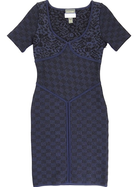 Zac Posen Jacquard Knit Bodycon Sweetheart Party Evening Structured Dress