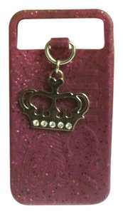 Juicy Couture JUICY COUTURE GLITTER CHARM IPHONE CASE