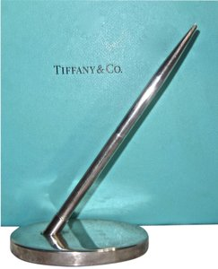 Tiffany & Co. Rare Vintage Sterling Silver Pen and Pen Holder Desk Piece by Tiffany and Co. Extremely Hard to Find!