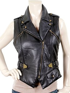 Alexander Wang Leather Gold Hardware Vest