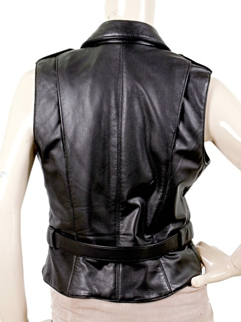 Alexander Wang Leather Gold Hardware Sleeveless Studded Vest