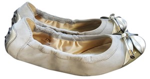 Tod's Ballet Leather Driving Suede Gray/Silver Flats