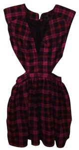 Love Culture short dress Pink plaid on Tradesy