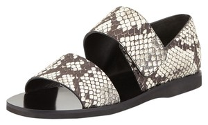 Vince Black/White Python Print Sandals