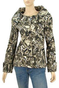 Basso & Brook Print Animal Print Structured Green, Black, White Jacket