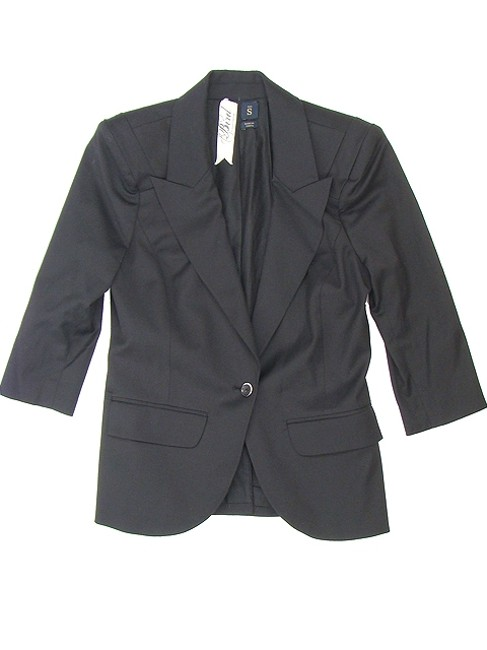 Juicy Couture Structured Wool Crop Top Black Blazer