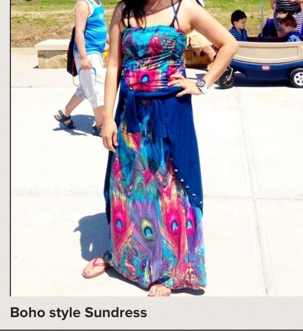 Multicolor Maxi Dress by Other Boho Style Maxi