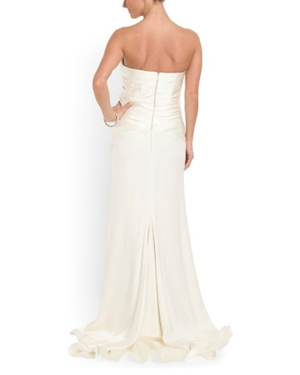 Nicole Miller Ivory Silk See Picture Of Tag Modern Wedding Dress Size 2 (XS)