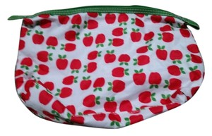 Clinique Red Apple print cosmetic bag Clinique