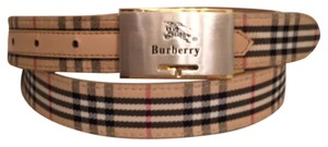 Burberry Classic fabric on leather