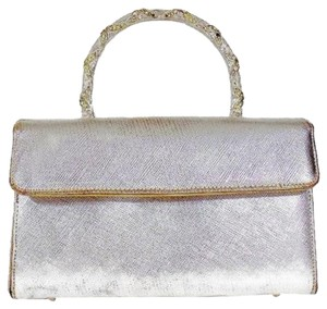 Saks Fifth Avenue Vintage Formal Evening Wear Silver Clutch