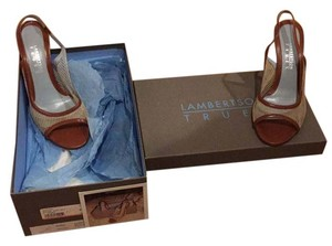 Lambertson Truex Cognac & natural Pumps