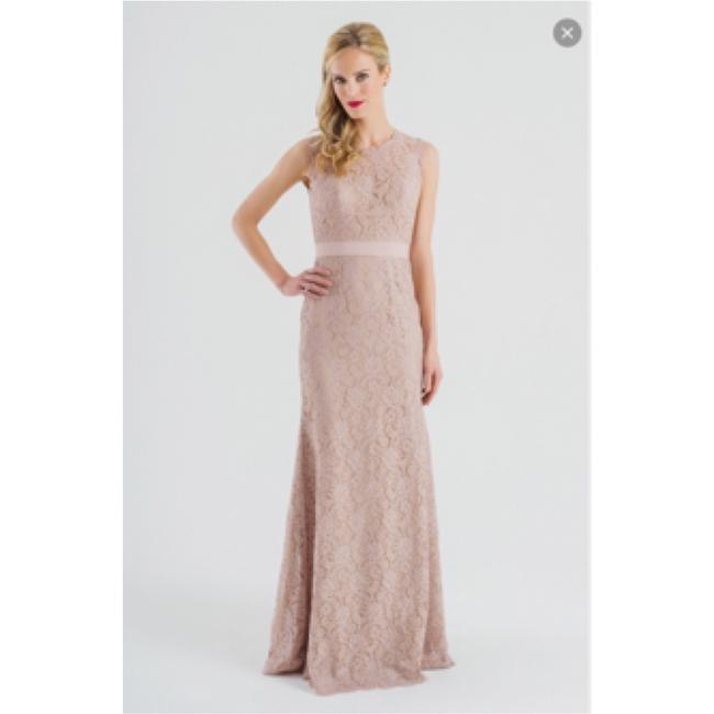 Item - Blush Lace Formal Bridesmaid/Mob Dress Size 14 (L)