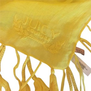 Juicy Couture Juicy Couture Yellow fringe Scarf