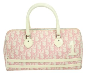 Dior Trotter Pink Satchel in Monogram