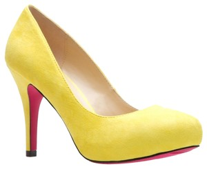 ShoeDazzle Bright Fun Lemon Yellow Pumps