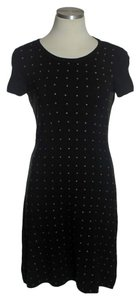 Cache short dress Black Silk Blend Studded on Tradesy