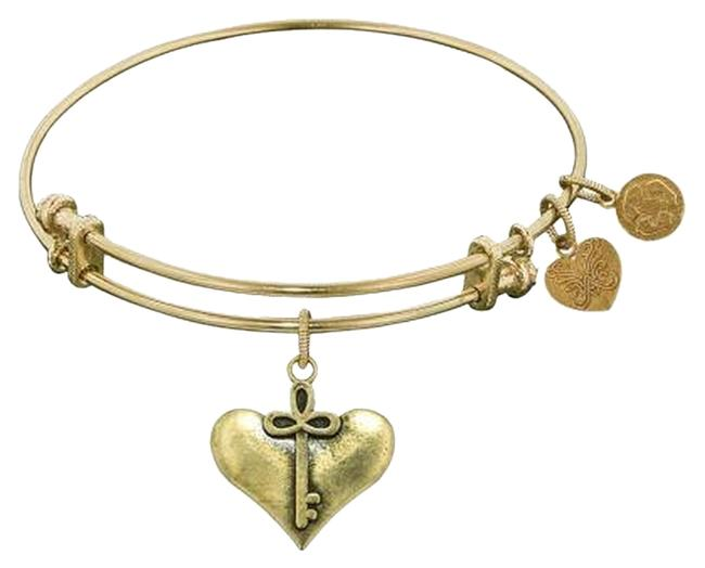 Item - Gold Tone New Cherish Heart and Key Charm Bracelet