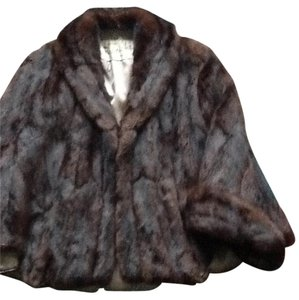 Handmade Mink Cape Fur Jacket Fur Mink Cape Fur Coat