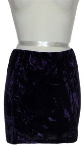 Millau Stretch Velveteen Mini Skirt Purple