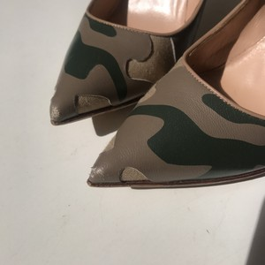 Valentino Rockstud Camouflage Nude Pointed Green Pumps