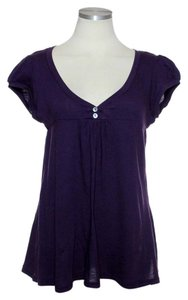 Emma & Sam Stretch Knit Top Purple