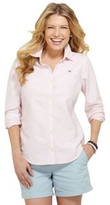 Vineyard Vines Oxford Collar Preppy Button Down Shirt Pink