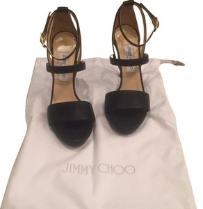 Jimmy Choo Black leather Platforms