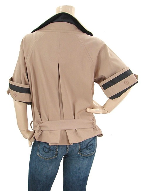 Chloé Trench Cropped Belted Beige Jacket