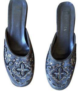 Embroidered Egyptian Gray Sandals